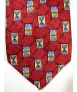Magnifique Robert Talbott Rouge Avec Or et Bleu Rubans Soie Cravate USA - $33.74