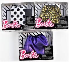 Barbie Fashion Pack of Three Skirts, Lepoard, Polka Dot, and Purple - $10.39