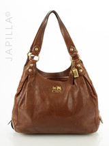 Coach 14336 Madison Maggie Mia Brown Leather Shoulder bag satchel purse - $2.579,29 MXN