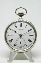 Longines cal.18.69N Silver Pocket Watch Grands Prix Good  Beautiful Condition - $549.70