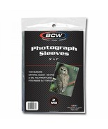 1 Pack 100 BCW 5x7 Photo Soft Poly Sleeves Acid Free Print Holder Archival - $5.37