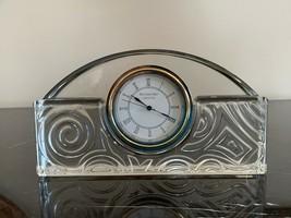 Vintage Waterford Crystal Made in Ireland Art Deco Mantel Clock - $149.00