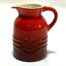 Le Creuset Cerise Maple Syrup Jar Pitcher Jug 6 oz Red  - $14.55
