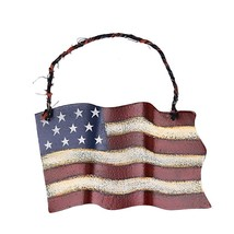 """Metal American Glory Flag Wall Art Memorial Day/July 4th Decor Small 6.5""""L - £5.82 GBP"""