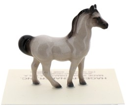 Hagen-Renaker Miniature Ceramic Horse Figurine Tiny Gray Stallion image 3