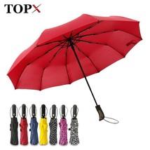 TopX® New Big Strong Fashion Windproof Umbrella Gentlemen  3Fold Compact... - $26.55