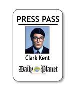 CLARK KENT NAME BADGE HALLOWEEN COSTUME PROP FOR SUPERMAN PRESS PASS PIN... - $13.16