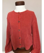 J Jill Womens S Cardigan Sweater Button Front Pockets Small Heavy Cotton... - $13.85