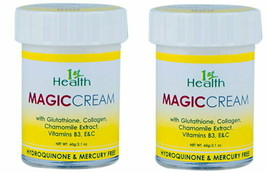 2 pcs 1st Health UNO Magic Cream Glutathione Collagen Chamomile Vit B3, ... - $37.62