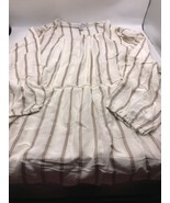 Fever Peasant Top Woven Boho  3/4 Sleeve Size XXL Womens Tunic Beige Str... - $24.18