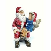 Robbie's Wish Figurine, Boy on Santa's Lap, Santa Figurine, Christmas De... - $11.99