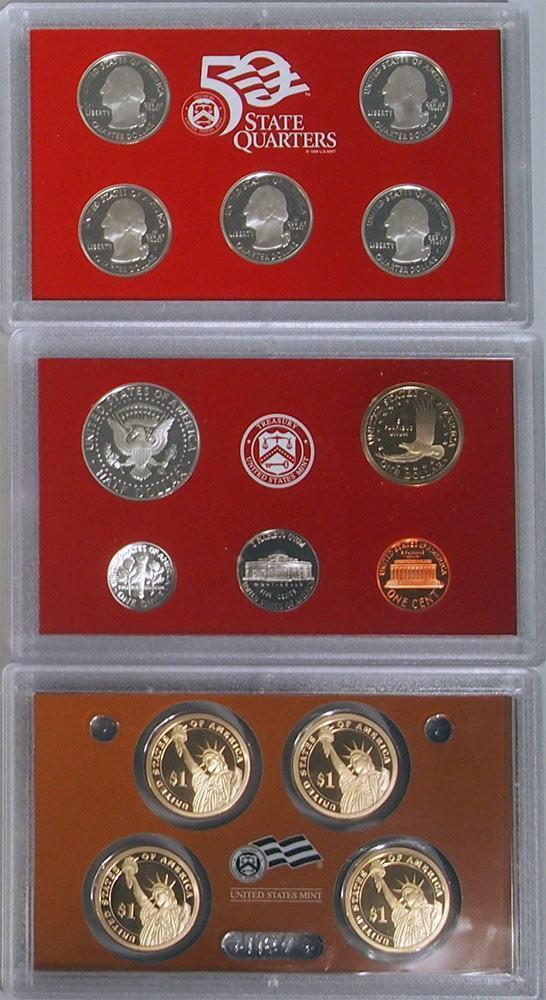2007-S 90% Silver Proof Set United States Mint Original Government Packaging Box image 2