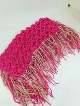 Boho Purse Handmade Crochet Makrame Yarn Lining Apply Tassels MagneticPu... - $55.00