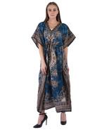 Hippy Boho Maxi Long Kaftan Dress Women Caftan Top Tunic Dress Gown Teal... - $7.19