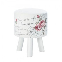 Butterfly Post White Stool - $79.99