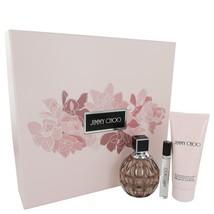 Jimmy Choo By Jimmy Choo 3.3 Oz Eau De Parfum Spray 3 Pcs Gift Set  image 2