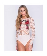 Womens Sexy Body Suits Long Sleeves Floral Lace Jumpsuits Skinny Type Pl... - $11.99