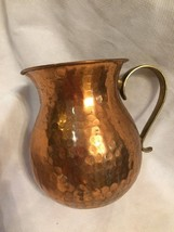 Vintage Brass Multi Use Mug With Handle Made in India Rare Unique - $10.29