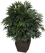 Nearly Natural 6718 Double Bamboo Palm with Planter Decorative Silk Plan... - $94.00