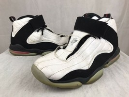 Mens NIKE AIR PENNY IV Basketball Shoes White Black True Red 864018-101 ... - $24.63