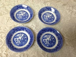 Antique, Rare, Ridgway Blue Willow 4pc Dessert-Berry Bowls  1in x 4.75in D - $47.45