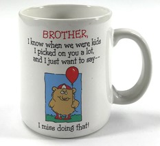 Brother, I Miss Doing That Shoebox Greetings Cartoon White Tea Coffee Mu... - $10.68