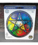 Elements Pentagram Window Sticker   Car Decal  Hippie  - $5.49