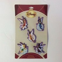 Disney Fairies Christmas Ornament Set 5 Plastic Tinkerbell New - $9.90