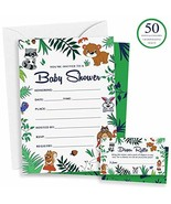Woodland Baby Shower Invitations & Diaper Raffle Game - 50 Animal Theme ... - $17.80