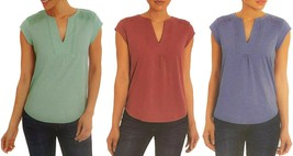Orvis Ladies' Anna Crochet Lace Insets Relaxed Fit V-Neck Top - $14.99