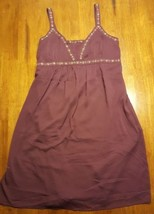 Motherhood Maternity Dress Sleeveless Shelf Bra Purple Sequin Beads L NW... - $9.89