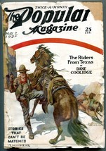 Popular Pulp Magazine May 7 1924- Riders From Texas- Dane Coolidge - $44.14