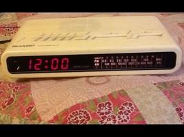 Sharp Digital Clock Radio FX-C11 W Cream Vintage Alarm Clock Radio Retro EU - $7.00