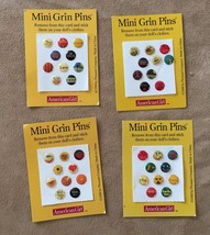 Pleasant Company vintage Grin Pins lot American Girl Doll stick on stickers - $16.50