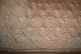 Hotel Collection Standard Sham Quilted Diamond Tan Taupe - $28.50