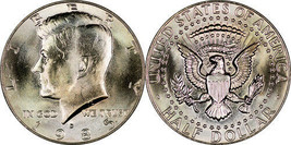 1985 D  Kennedy Half Dollar taken from a 1985 uncirculated set CP2500 - $4.75