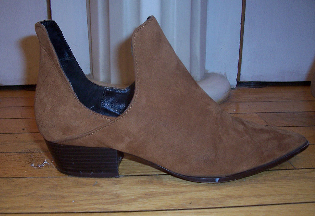 acdac3bca7352 Zara Trafaluc Tan Suede Ankle Cut Out Side and 31 similar items