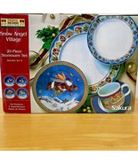 Debbie Mumm Snow Angel Village Dishes Set 20 Pcs 4 Place Settings Christ... - $99.95