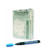 Pentel SMW26 Wet Erase Chisel Point Chalk Marker (12pcs) - Blue - $35.99