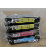 Lot of 4 EPSON 220 Color Ink Cartridges Factory Sealed Genuine No Box In... - $24.74