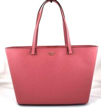 AUTHENTIC NEW NWT KATE SPADE $299 LEATHER KRISTEN PINK POMEGRANATE MED TOTE - $108.00
