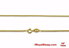 Italian 14k yellow gold layered over .925 sterling silver - 1 mm box cha... - $10.35