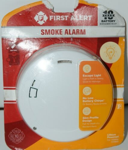 First Alert P1210E Smoke Alarm Lithium Powercell White New in Package