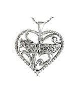 Diamond Heart Pendant 35 Diamonds  natural untreated 1/2 carat MOTHER'S DAY - $127.59