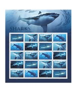 Shark Sheet of 20 Forever USPS First Class one Ounce Postage Stamps Ecot... - $26.50 CAD