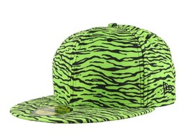 New Era X Jeremy Scott Tiger Limited 59Fifty Cap Hat Lime Green Black 7 1/8 Nwt - £18.73 GBP