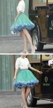 Women Above Knee Ruffle Layered Tulle Skirt Princess Plus Size Tiered Tutu Skirt image 3