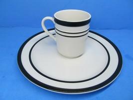 "Kate Spade All In Good Taste New York Black & White 12 oz. Mug And 10 5/8"" Plate - $28.42"