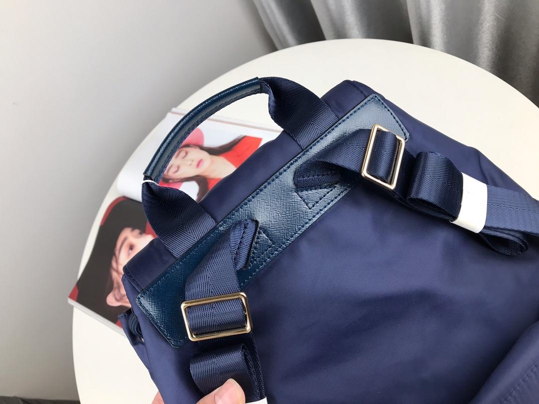 TORY BURCH QUINN NYLON NAVY BLUE BACKPACK BAG