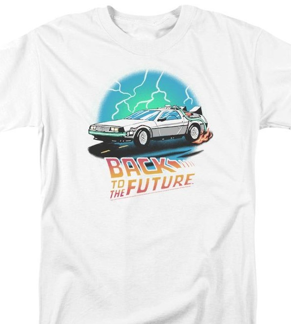 T shirt1980s retro movie white graphic tee store for sale online marty mcfly 80s uni1127 at 800x